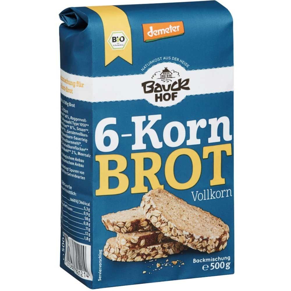 Bauckhof Bio 20 Korn Brot Vollkorn Backmischung   Veganhaus