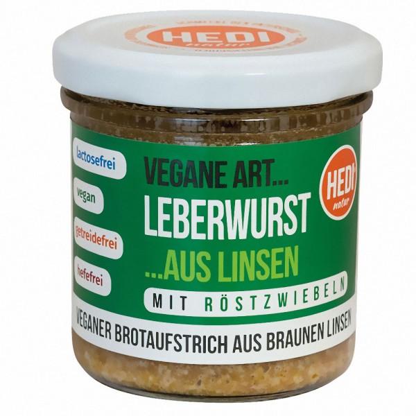 HEDI Vegane Art Bio Leberwurst mit Röstzwiebeln
