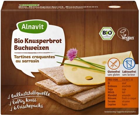 Alnavit Bio Knusperbrot Buchweizen
