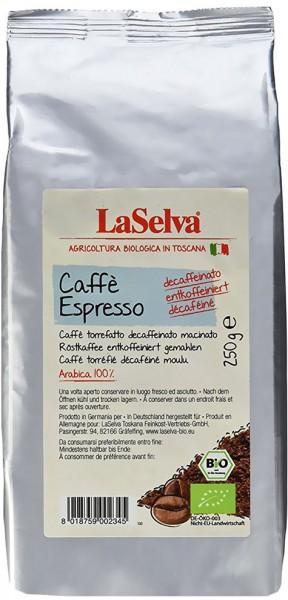 LaSelva Bio Caffè Espresso entcoffeiniert gemahlen